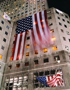 State_Department_Images_WTC_9-11_The_Flag,_Midnight